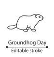 groundhog day linear icon vector image