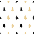 hand drawn Christmas tree seamless pattern in vector image
