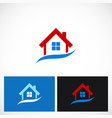 home realty business company logo vector image vector image