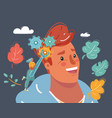human head with gear influence on opinion vector image vector image