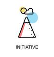 initiative icon on white background design vector image