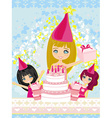 kids celebrating a birthday party vector image vector image
