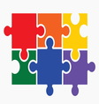 lgbt puzzle2 resize vector image vector image