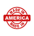made in america red stamp on white background vector image vector image