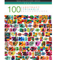 mega collection of 100 triangle abstract vector image