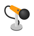 Microphone isometric 3d icon vector image vector image