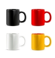 Mugs set vector image vector image