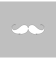 Mustache computer symbol vector image vector image