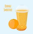 orange detox drink cartoon flat style vector image vector image