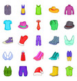 outerwear icons set cartoon style vector image vector image