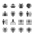 people and group icon set vector image
