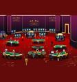 people gambling in casino vector image