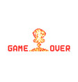 pixel art explosion like game over vector image vector image