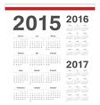 Polish simple calendars 2015 2016 2017 vector image vector image