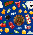 realistic casino gamble pattern or vector image vector image