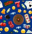 realistic casino gamble pattern vector image