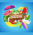 realistic hammock tropical leisure composition vector image