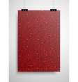 Red sequin poster on the wall Eps 10 vector image vector image