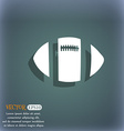 rugby ball icon On the blue-green abstract vector image