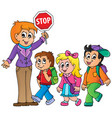 school kids theme image 1 vector image vector image
