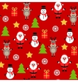 Seamless cute christmas pattern vector image