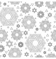 seamless repeat pattern with david star vector image
