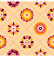 Seamless retro pattern of different summer flowers vector image vector image