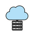 servers with cloud storage related icon image vector image vector image