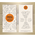 set banners with pizza sketch vector image