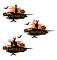 set of festive label for halloween vector image vector image