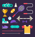 Set of Icons and in Flat Design Style Sports vector image vector image