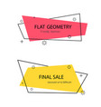set trendy banner with flat shape design label vector image vector image