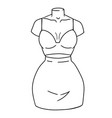 set womens clothing - top and mini skirt vector image vector image