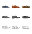 shoe and footwear sign vector image