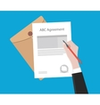 Signing important agreement letter with a pen vector image vector image