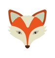 silhouette orange color of fox face vector image