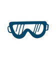 ski goggles icon in doodle style isolated on vector image vector image