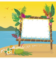 summer holidays on the beach with copy space vector image