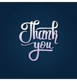 Thank you - card background lettering vector image vector image