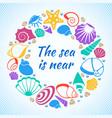 tropical resort aquatic concept with sea vector image vector image