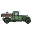Vintage tank truck vector image vector image