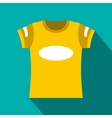 Yellow t-shirt template icon flat style vector image vector image