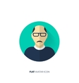 Avatar in a flat style Person Social media vector image