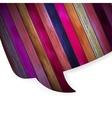 Colorful wooden bubble speech EPS 10 vector image