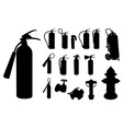 Fire extinguisher silhouette vector image