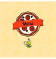 Pizza menu cover vector image