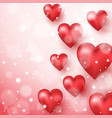 abstract background to valentine s day vector image vector image