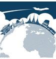 around world travel background design vector image