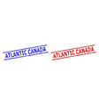 atlantic canada watermarks with grunge style and vector image vector image