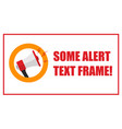 attention announcement important message from vector image vector image